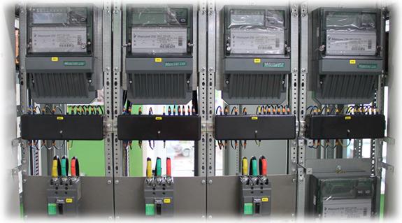 Монтаж и подключение испытательных коробок для счетчиков.