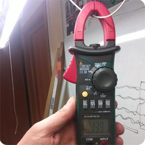 Измерение тока потребления светодиодных ламп 1200 мм.