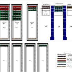 Проектные работы СКС. Схема расположения оборудования в коммуникационных шкафах.