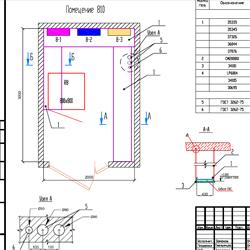 Проектные работы СКС. Схема расположения оборудования в кроссовом помещении.